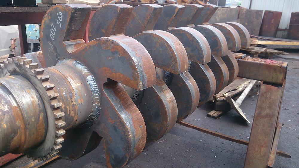 вал ротора дробилки после ремонта