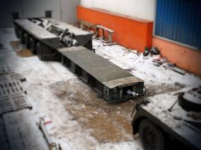 Ремонт низкорамного трала Nicolas грузоподъемностью 75 тонн