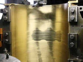 Расточка бронзовых вкладышей подшипников для опорных роликов вращающейся печи 461-KL1