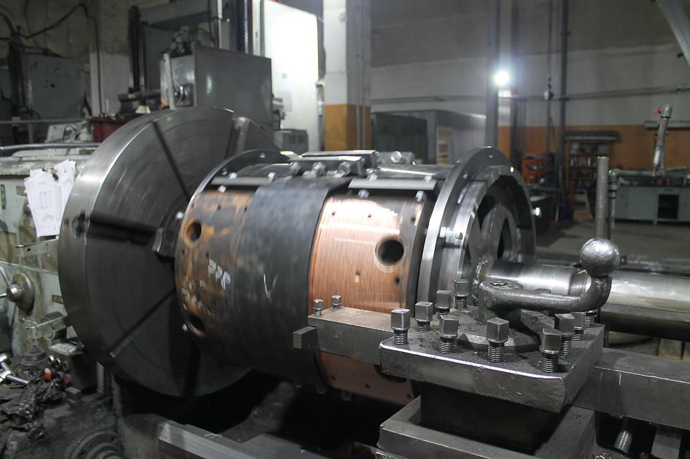 Токарная обработка электрододержателей