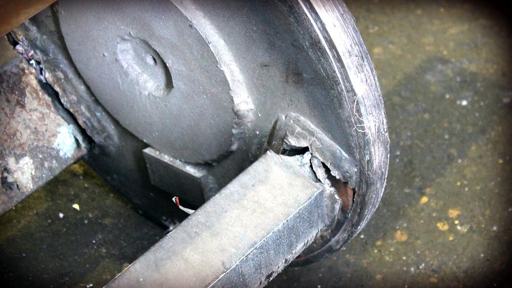 Ротор измельчителя до ремонта
