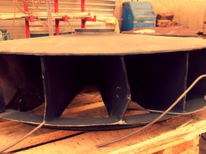 Ремонт крыльчатки циркуляционного вентилятора колпаковой печи