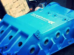 Ремонт и усиление подвижной щеки дробилки KLEEMANN MC110R