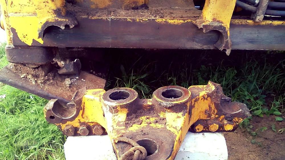 Поворотная каретка CAT 422Е до ремонта