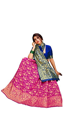 Poly Cotton Saree with Unstiched Blouse