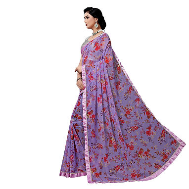 Light Magenta Fancy Silk Saree