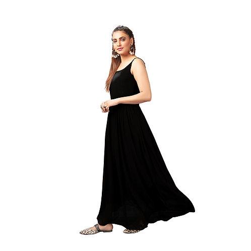 Anarkali Style Sleeveless Gown
