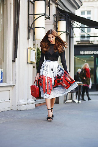 Featuring London Red Bus Skirt