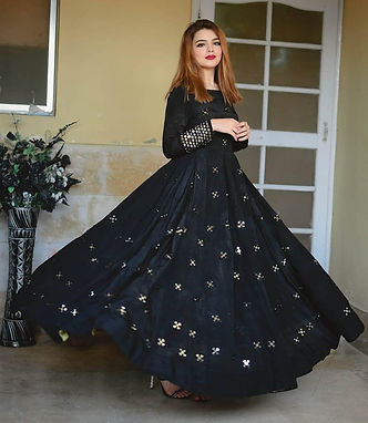 Heavy Georgett Designer Embroidered Anarkali Style Gown