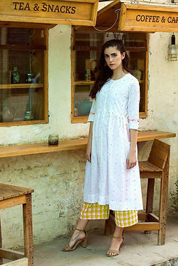 Crepe Top With Beautiful Fully Embroidered Heavy Rayon Checkered Plazzo