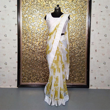 Heavy Digital Printed Saree with Thread Work Lace