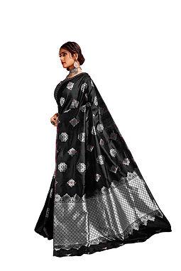 Lichi Silk Saree with Unstiched Blouse