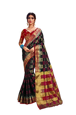 Nylon Art Silk Saree with Unstiched Blouse