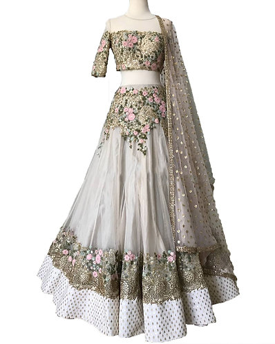 Golden Embroidered Lehenga