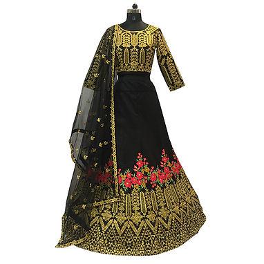 Black Lehenga with Embroidery Work
