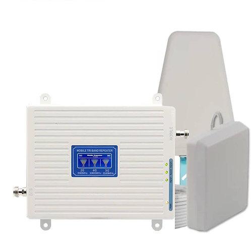 ABONIX Tri Band 2G 3G 4G LTE Mobile Signal Enhancer Kit