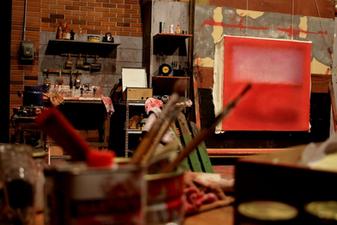 """Detalle de escenografía de """"Red"""" (Teatro La Comedia)"""