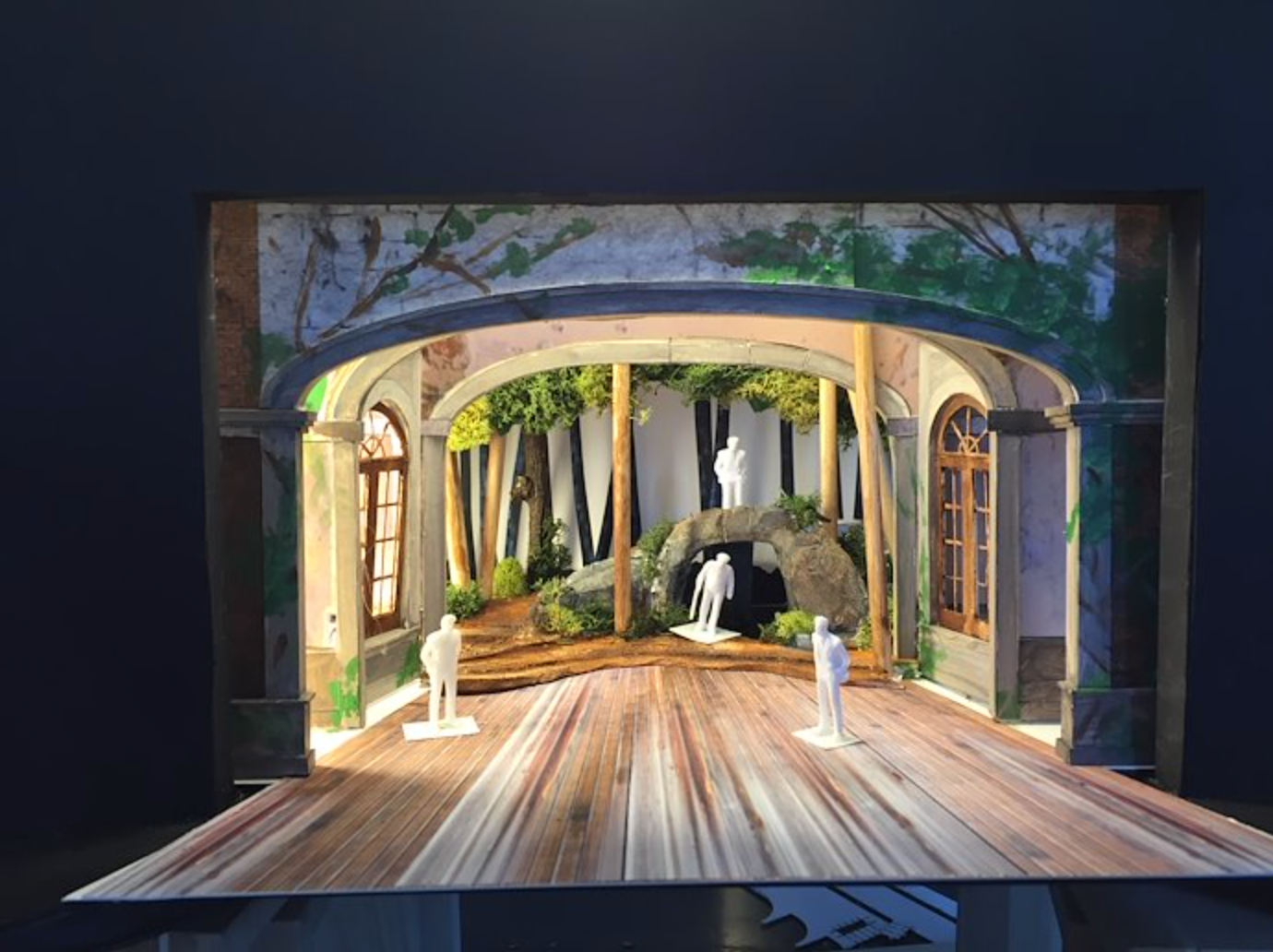 "Maqueta para ópera ""A Midsummer Night's Dream"" (University of Illinois)"