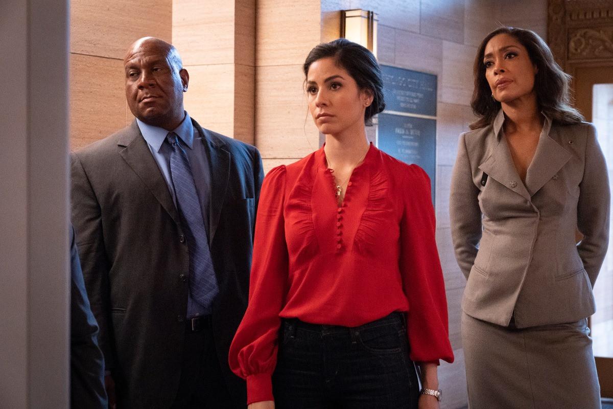 Isabel Arraiza con Gina Torres en Pearson