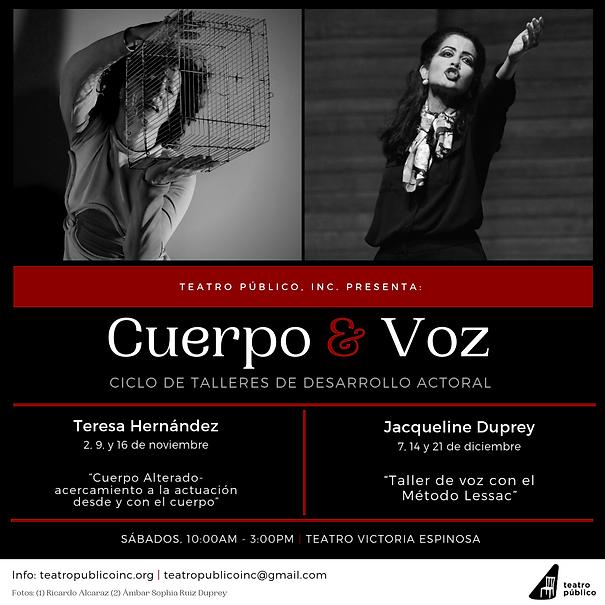 Tallres Cuerpo y voz Jaqueline Duprey Teresa Hernández