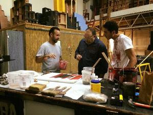 """José Manuel Díaz junto a Junior Álvarez y Gabriel Leyva en """"Red"""" (Teatro La Comedia)"""