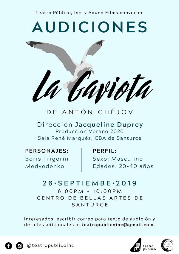 Audiciones La Gaviota Teatro Publico