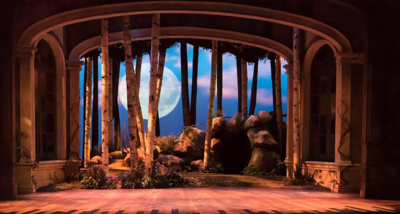 "Diseño de escenografía para ópera ""A Midsummer Night's Dream"" (University of Illinois)"