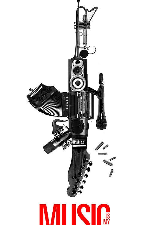 """Gun """"music is my revolution"""""""