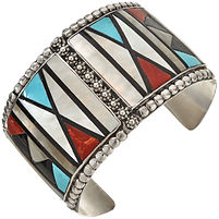 Native American sterling silver cuff jewelry
