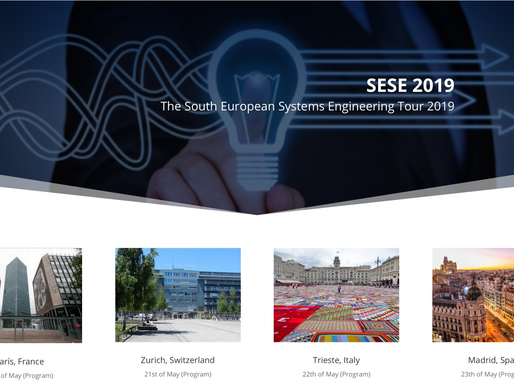 May, 2019 - Meet us at the South European System Engineering Tour 2019: Paris on 20th, Zurich on 21s