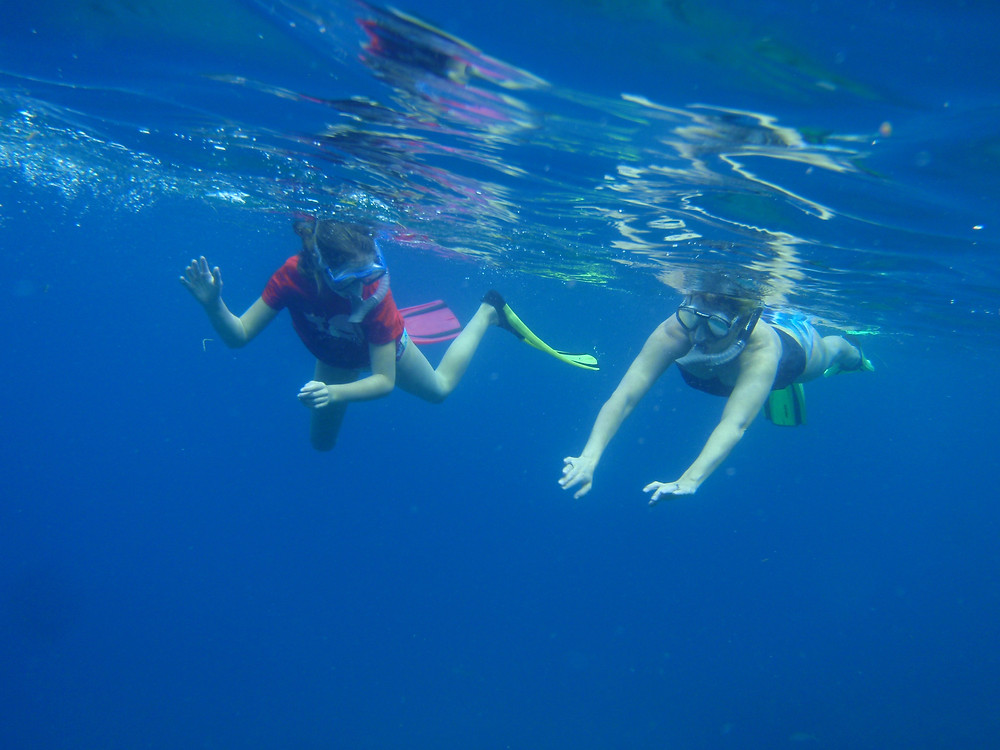 Snorkeling is great fun