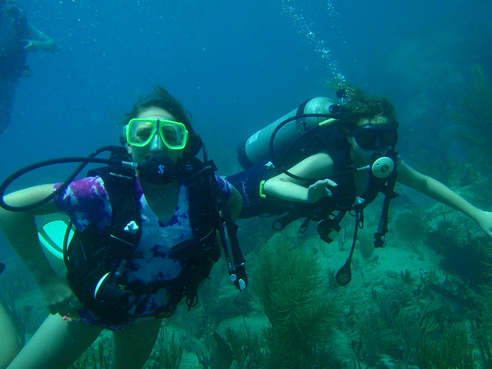 New certified divers