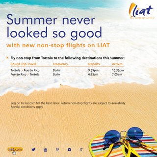LIAT finally serving Puerto Rico- BVI  DAILY!!!!