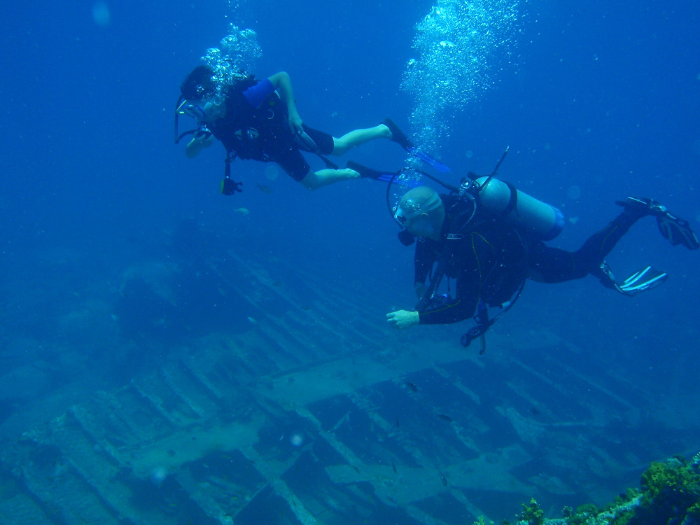 Scuba Certification during chartering