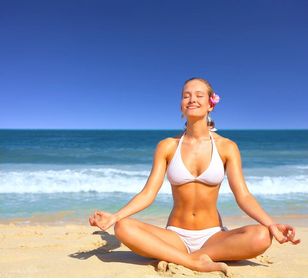Beach Yoga- detox from stress