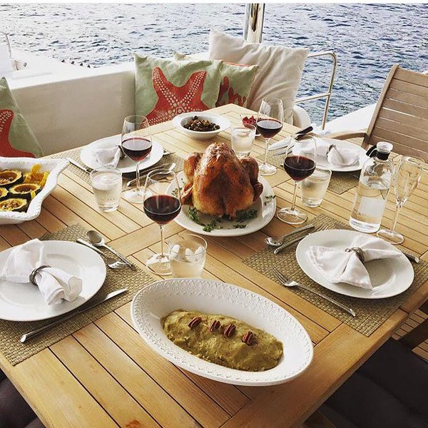 Thanksgiving Dinner on a All-Inclusive charter yacht- Something Wonderful