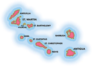 "The Leeward Islands are called the Leeward Islands because they're away from the wind (""lee"")."