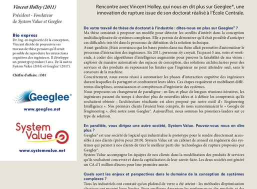 """12/03/2018 - Geeglee in a special issue of """"Revue des Centraliens"""""""