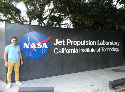"""June, 2019 - Proud to have one of our """"Geeglee's student"""" at NASA"""