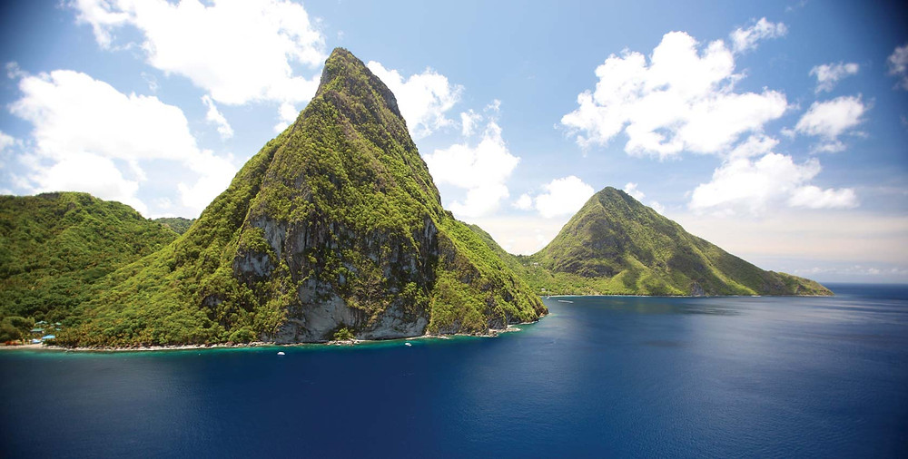The Pitons in St. Vincent