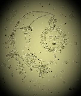 Lune et soleil - EK.