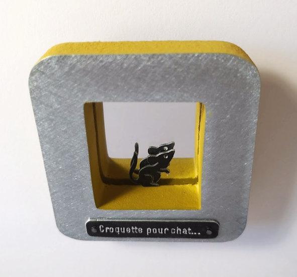 Croquette pour chat jaune