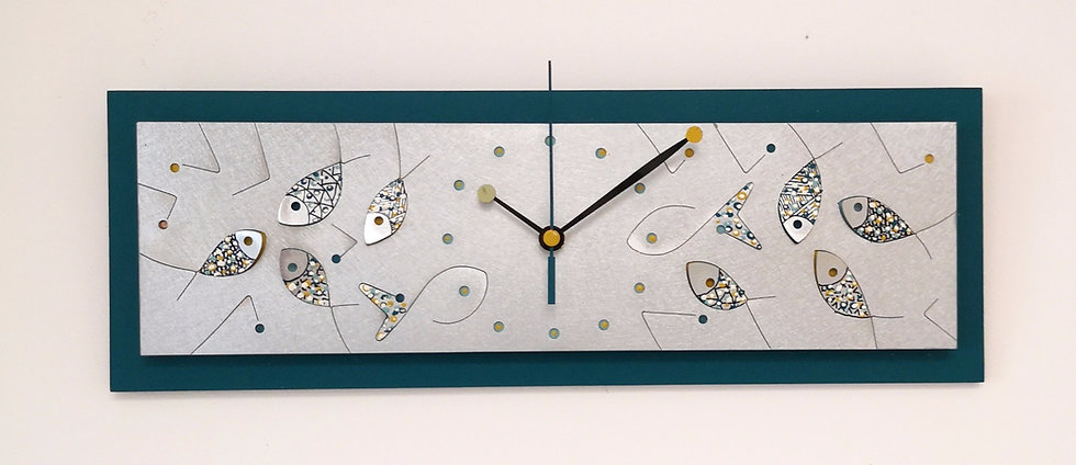 Horloge splash bleue