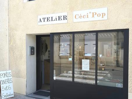 Ça y est l'atelier-boutique Céci'Pop est ouvert !