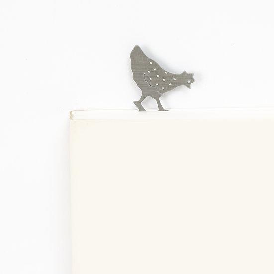 Marque-page motif Poule