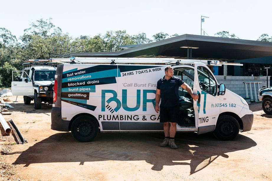 Burst Plumbing Van
