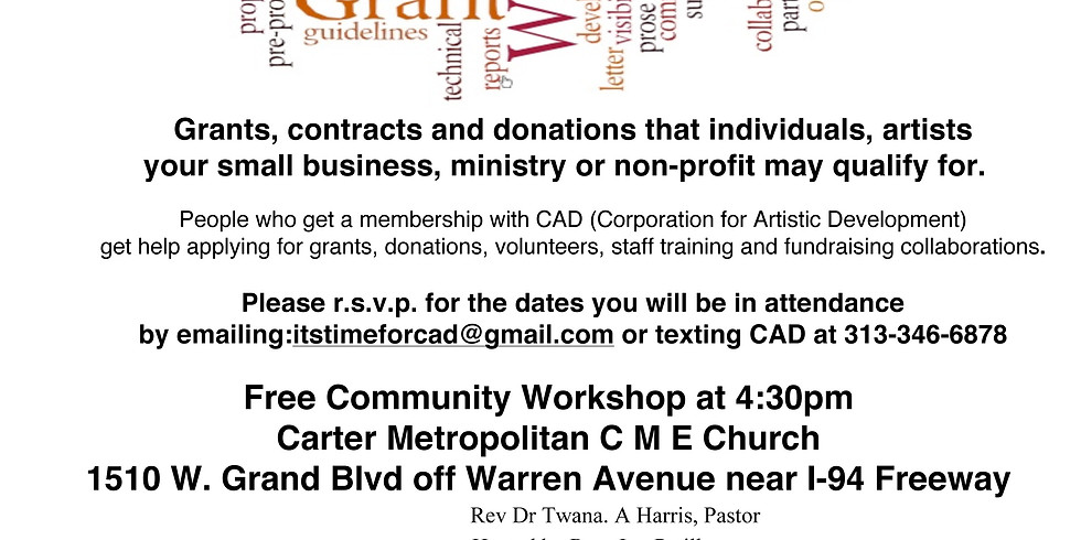 CAD Saturday Grant Writing and Raising Funds