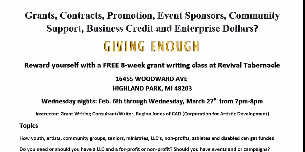CAD Wednesday Grant Writing and Raising Funds
