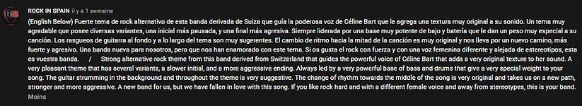 28.04.20 Rock in Spain youtube comment.J