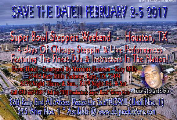 DBJ Productions Super Bowl Weekend All-Access Pass